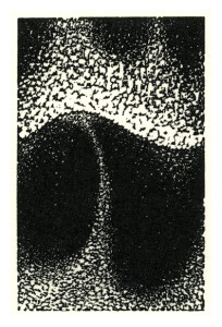 """A Wave Takes Flight"" by John Haney.  Wood engraving, 1-7/8"" x 3"", 2012"