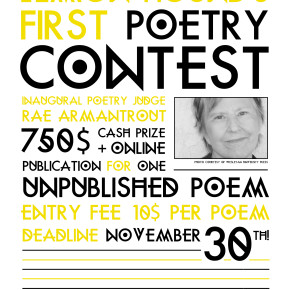 Poetry Contest: Rae Armantrout, Judge