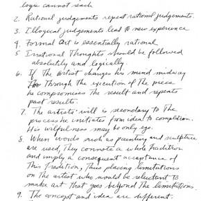 Sol Lewitt: Sentences on Conceptual Art